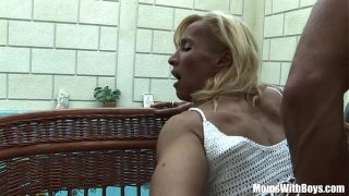 Blonde Mature Melissa Q Sucking And Fucking Young Cock
