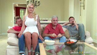 Blonde Stepmom Ryan Conner Fucking Her Shy Stepson